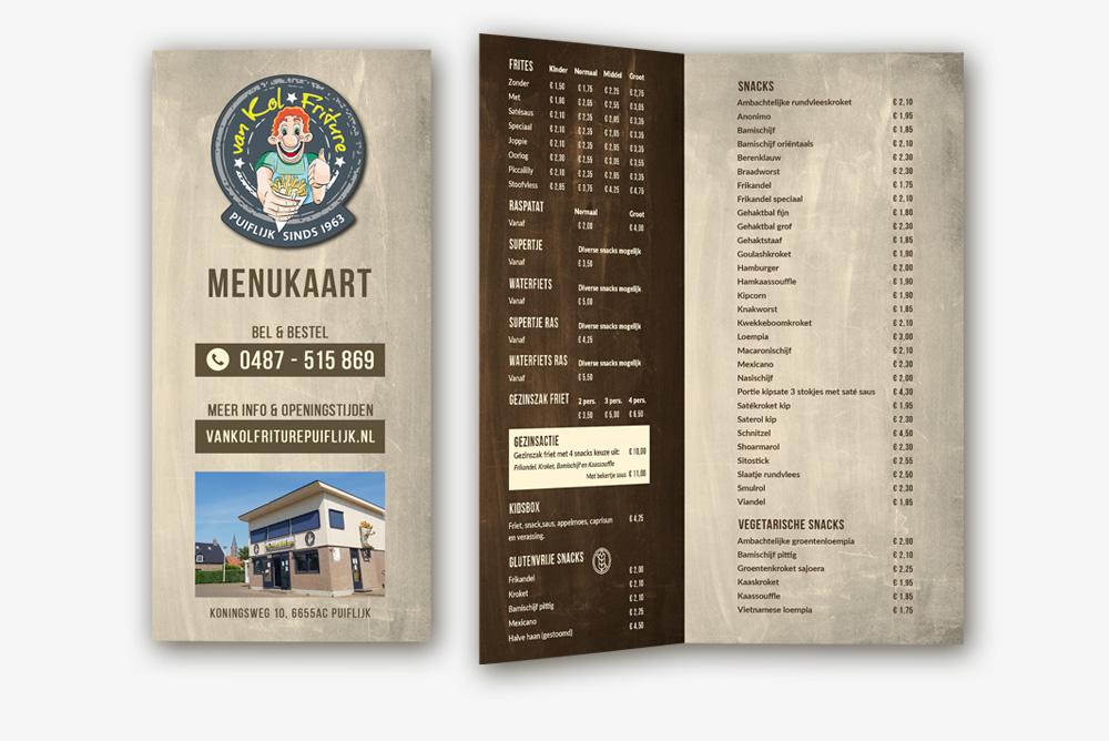 menukaarten ontwerpen